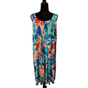 Lane Bryant Watercolor Sleeveless Dress 22/24